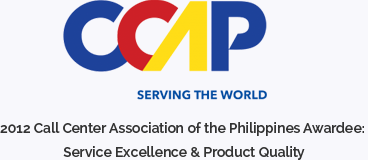 2012 Call Center Association of the Philippines Awardee