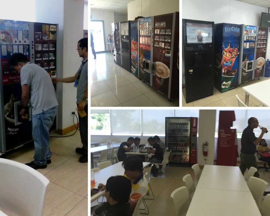 BE Aerospace vending machines by philippine vending corporation